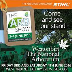 See us at The Arb Show 3rd / 4th June 2016